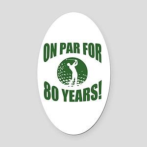 Golfer's 80th Birthday Oval Car Magnet