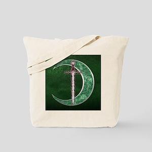 Green Celtic Moon Tote Bag