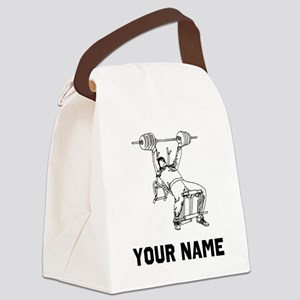 Bench Press Canvas Lunch Bag