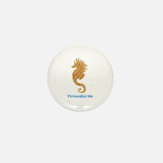 Personalized Seahorse Mini Button