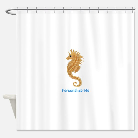 Personalized Seahorse Shower Curtain