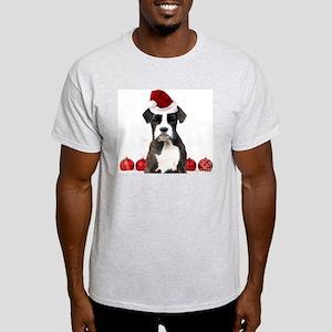 Christmas Boxer Dog Light T-Shirt