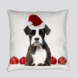 Christmas Boxer Dog Everyday Pillow