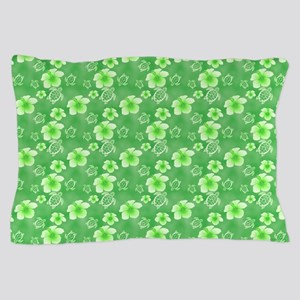 Soft Hawaiian Flowers And Turtles Pattern Pillow C