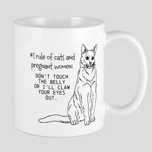Cats and Pregnant Women Mugs