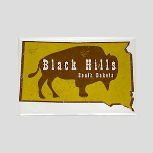 Black Hills Bison Buffalo Vintage Rectangle Magnet