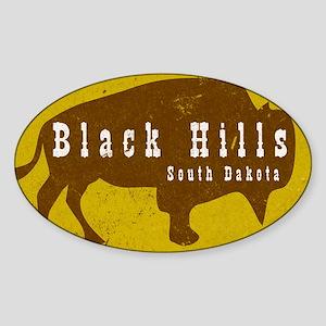 Black Hills Bison Buffalo Vint Sticker