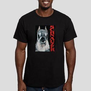 Schnauzer Urban Pop Men's Fitted T-Shirt (dark)
