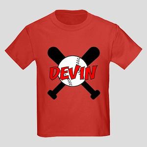Devin Baseball Kids Dark T-Shirt