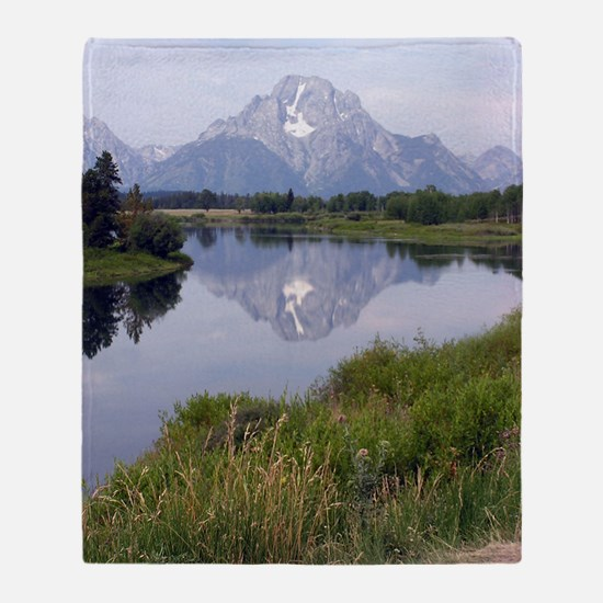 Mount Moran Throw Blanket