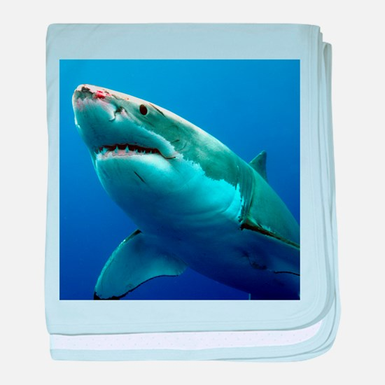 GREAT WHITE SHARK 3 baby blanket