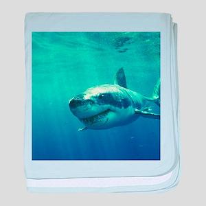 GREAT WHITE SHARK 1 baby blanket