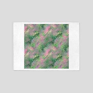 Green Crystal Gel Pattern 5'x7'Area Rug