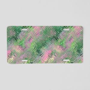 Green Crystal Gel Pattern Aluminum License Plate