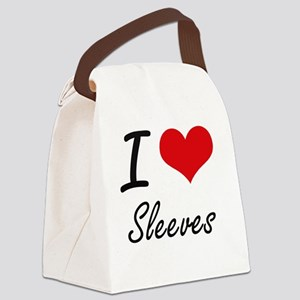 I love Sleeves Canvas Lunch Bag
