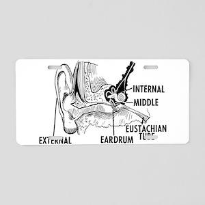 Ear Diagram Aluminum License Plate