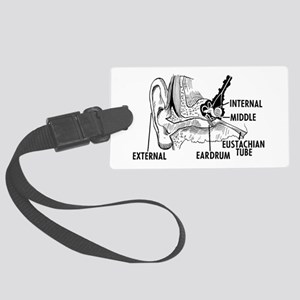 Ear Diagram Large Luggage Tag