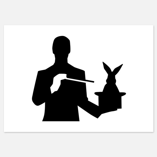 Magician top rabbit Invitations