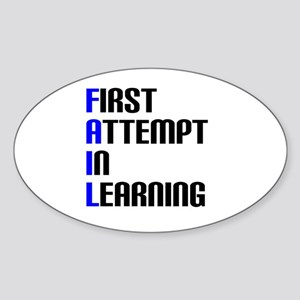 Fail to Learn Sticker (Oval)