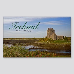 Ireland Country Castle Sticker (rectangle)
