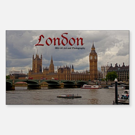London Big Ben And Parliament Sticker (rectangle)
