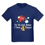Boy 4th birthday Kids T-shirts (Dark)
