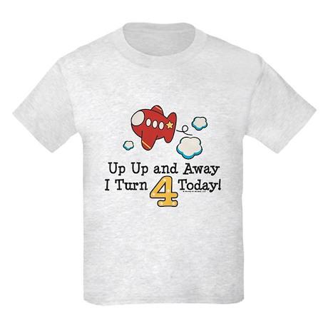 4th Birthday Airplane Kids Light T-Shirt