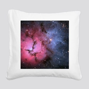 TRIFID NEBULA Square Canvas Pillow