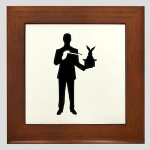 Magician bunny rabbit Framed Tile