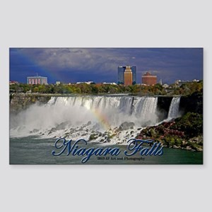 Niagara Falls Rainbow Sticker (rectangle)