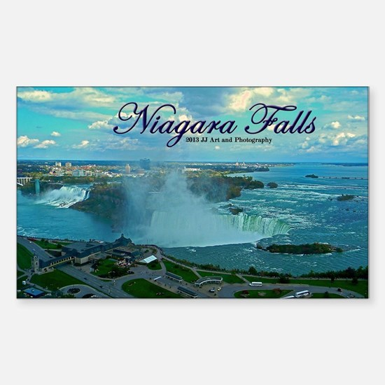 Niagara Falls From Above Sticker (rectangle)