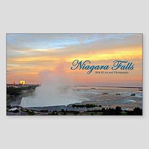 Niagara Falls Sunset Sticker (rectangle)
