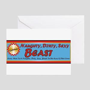 Naughty Beast Greeting Cards