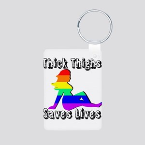 Thick Thighs Save Lives Gay Pride Keychains