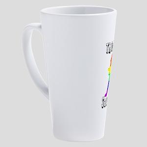 Thick Thighs Save Lives Gay Pride 17 oz Latte Mug