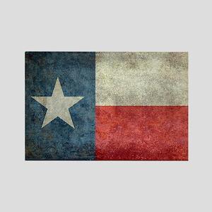Texas state flag vintage retro st Rectangle Magnet