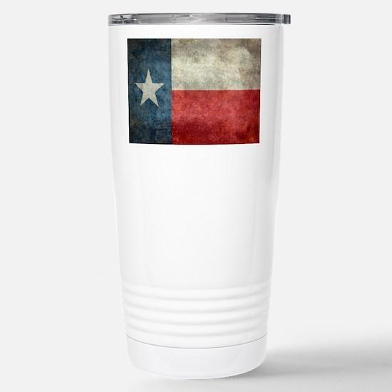 Texas state flag vintag Stainless Steel Travel Mug