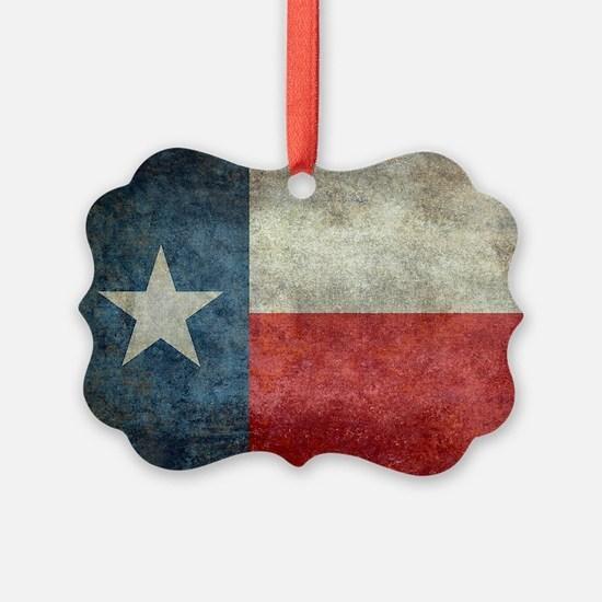 Texas state flag vintage retro st Ornament