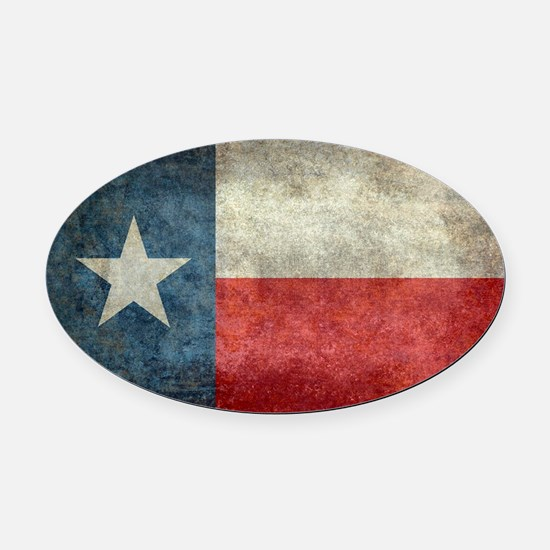 Texas state flag vintage retro sty Oval Car Magnet