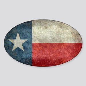 Texas state flag vintage retro styl Sticker (Oval)