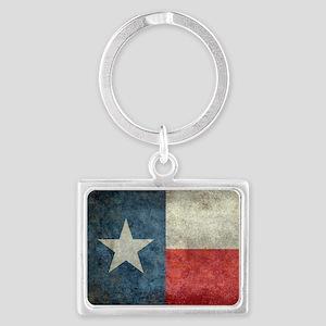 Texas state flag vintage retro  Landscape Keychain