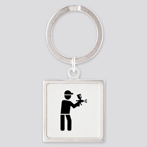 Lacquerer Square Keychain