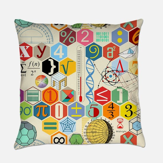 Funny Math Everyday Pillow