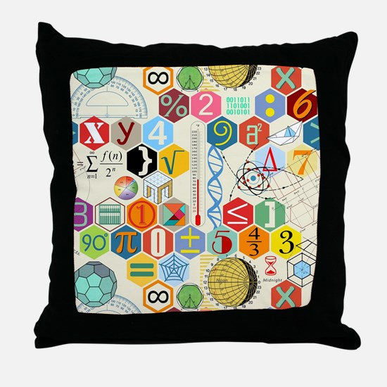 Cute Numbers Throw Pillow