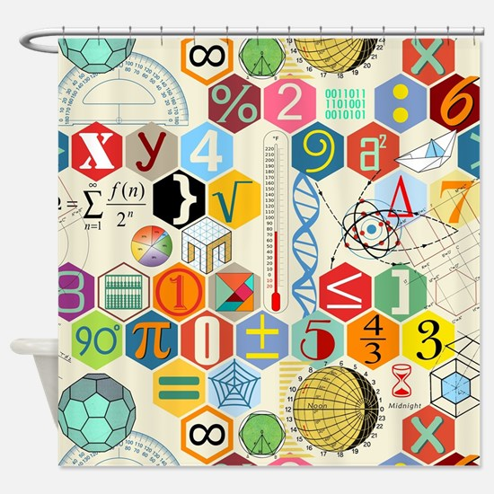 Cute Math Shower Curtain