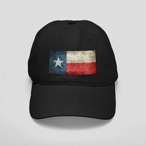 Texas state flag vintage retro style lef Black Cap