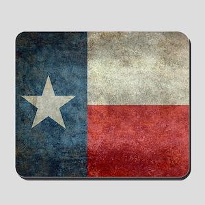 Texas state flag vintage retro style lef Mousepad