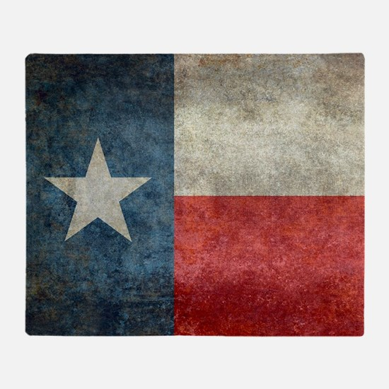 Texas state flag vintage retro style Throw Blanket