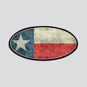 Texas state flag vintage retro style left bl Patch