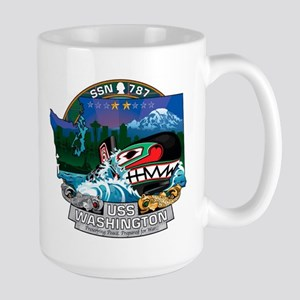 USS Washington SSN-787 Large Mug